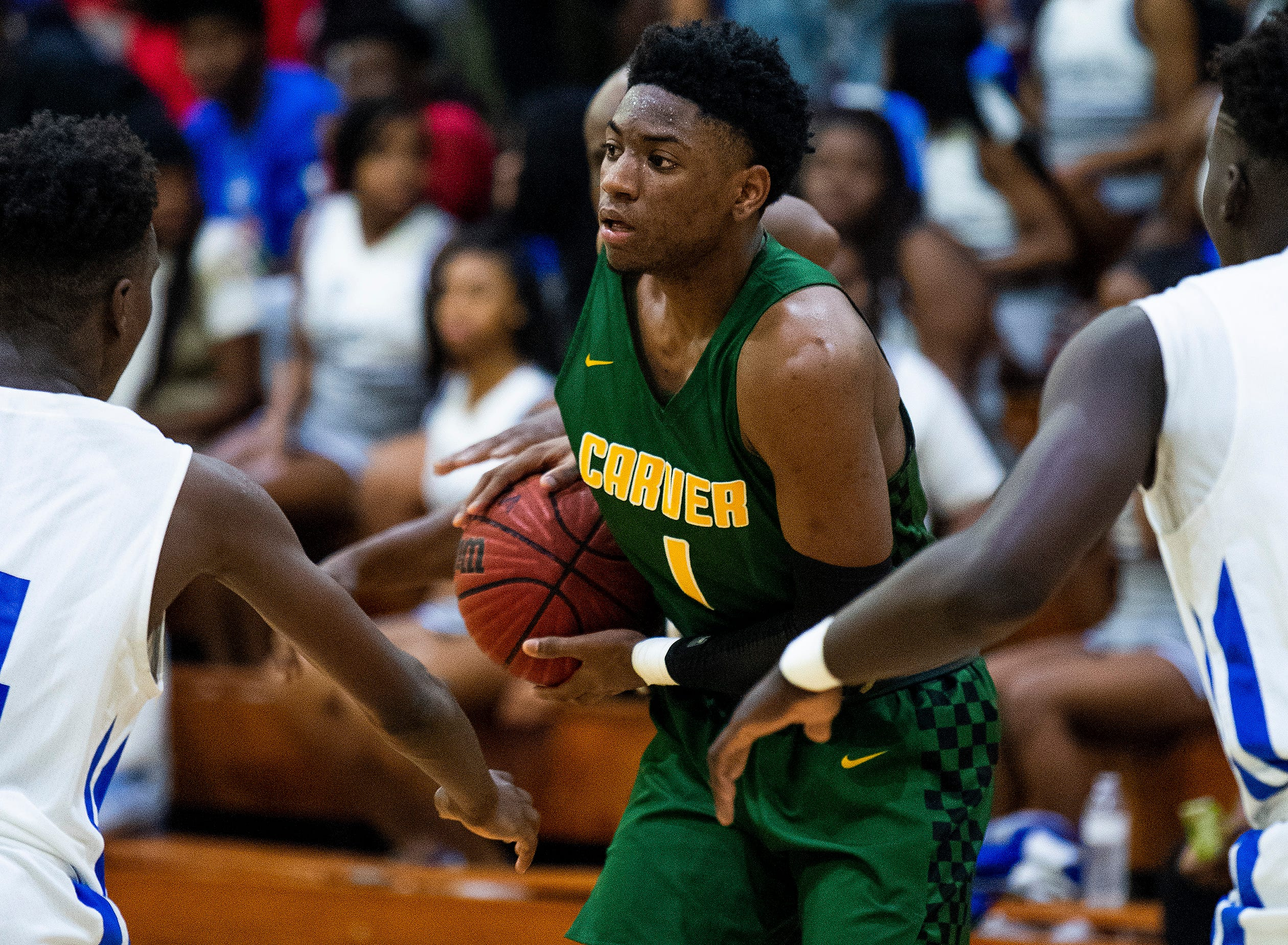Carver's Jaykwon Walton (1) against Lanier at the Lanier campus in Montgomery, Ala., on Friday January 11, 2019.