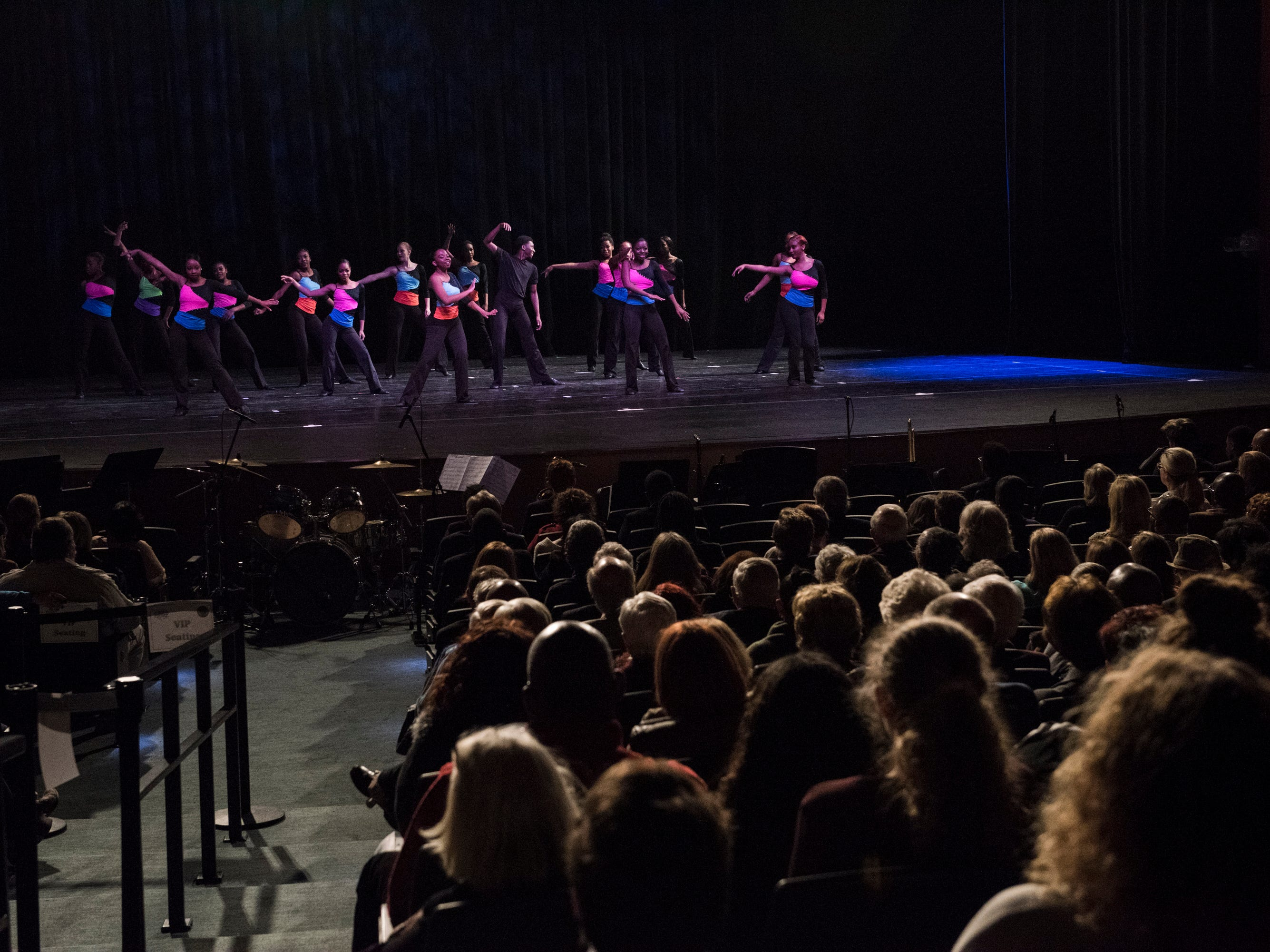 Dance students perform during the BTW Showcase: Rise at the Montgomery Performing Arts Center in Montgomery, Ala., on Friday, Jan. 11, 2019.