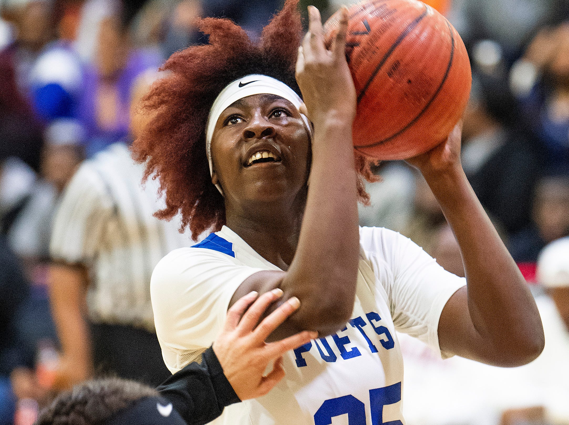 Lanier's Jasmine Payne (25) against Carver at the Lanier campus in Montgomery, Ala., on Friday January 11, 2019.