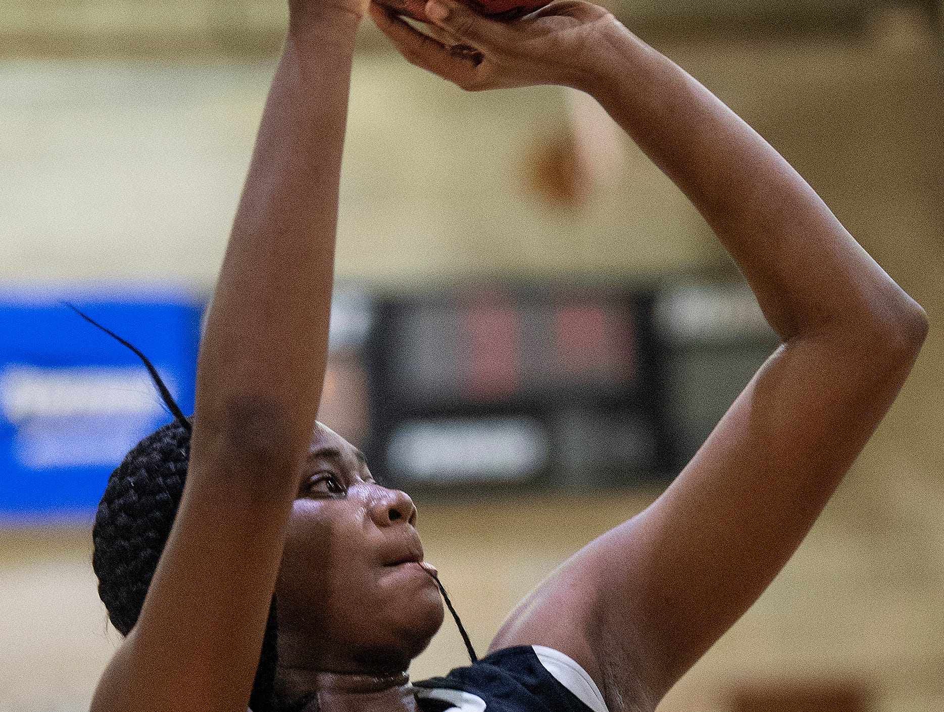 Carver's Bre anna Rhodes (10) against Lanier at the Lanier campus in Montgomery, Ala., on Friday January 11, 2019.