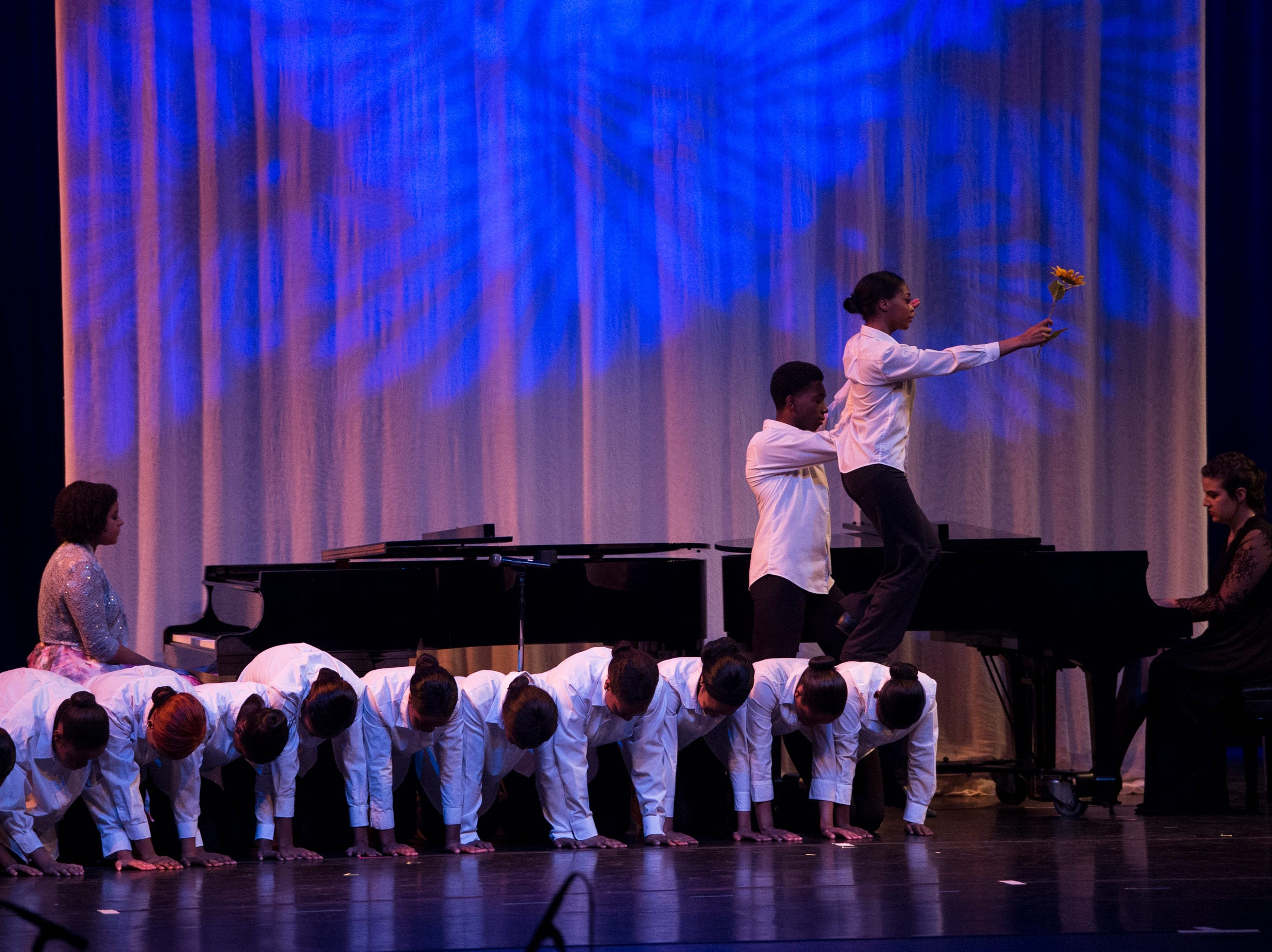 Dance and music students perform during the BTW Showcase: Rise at the Montgomery Performing Arts Center in Montgomery, Ala., on Friday, Jan. 11, 2019.