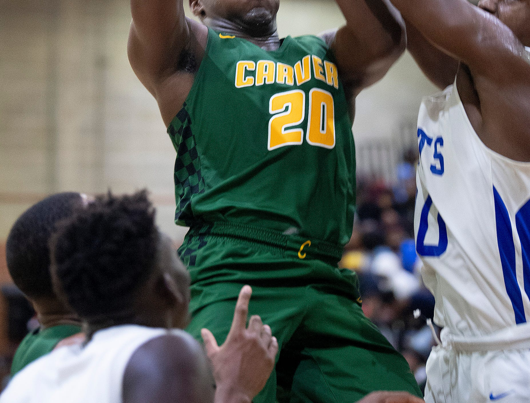 Carver's Jereme Robinson (20) against Lanier at the Lanier campus in Montgomery, Ala., on Friday January 11, 2019.