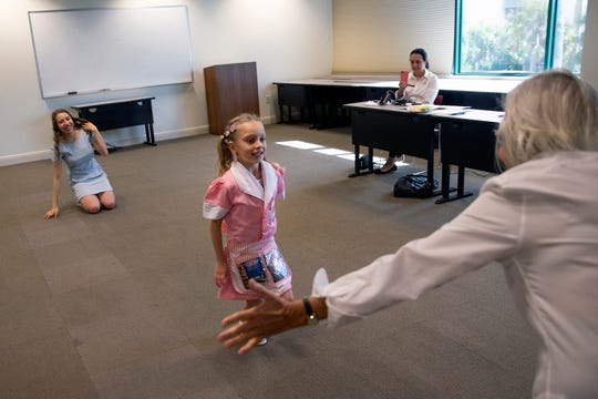 "Gianna Winton, 6, of Fort Myers auditions for the role of Lulu in the upcoming production of ""Waitress"", Saturday, Jan. 12, 2019, at the Artis-Naples Toni Stabile Education Building."