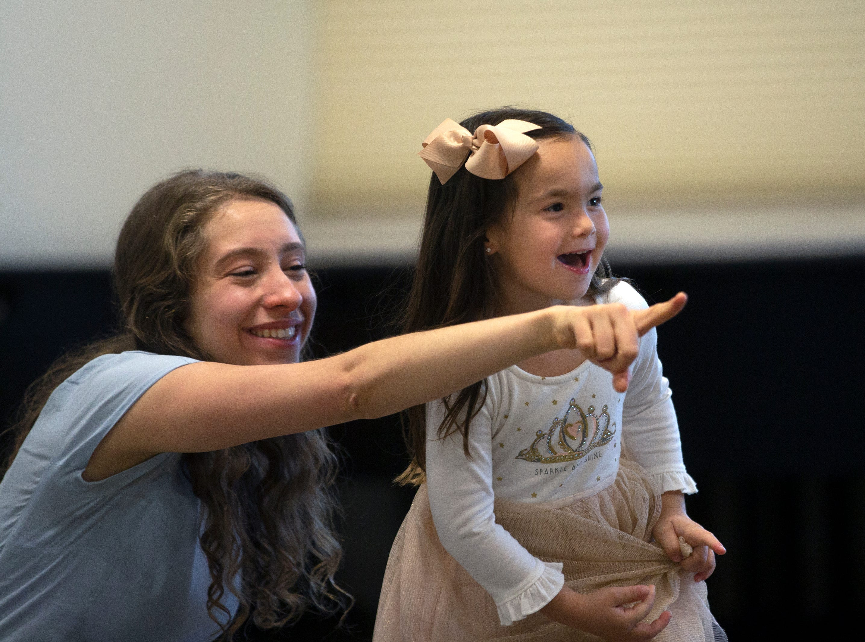 "Assistant director Susanna Wolk works with Emma Panos during a casting call for the role of Lulu in the upcoming production of ""Waitress"" on Saturday, Jan. 12, 2019, at the Artis—Naples Toni Stabile Education Building."