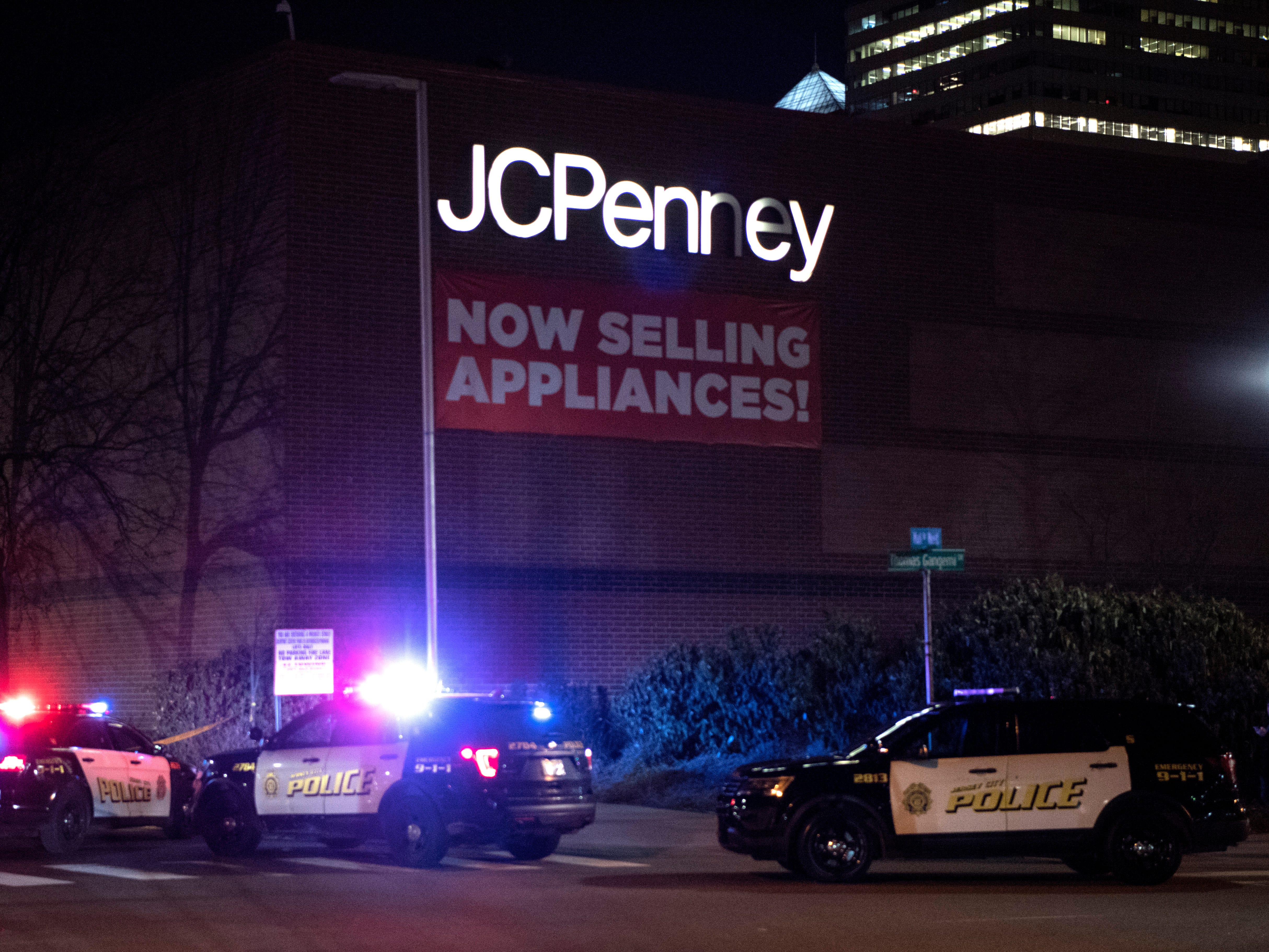 Jersey City Police at the Newport Centre mall where two people were shot on Friday, January 11, 2019.