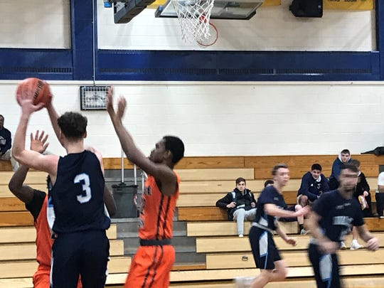 Wayne Valley High School plays against Orange High School at basketball tournament at Northern Valley Regional High School at Old Tappan to raise funds for Alzheimer's on January 12, 2019.