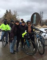 Rep. Angelic Rubio arrived in Santa Fe on Saturday, one week after leaving Las Cruces on bicycle for the 2019 legislative session
