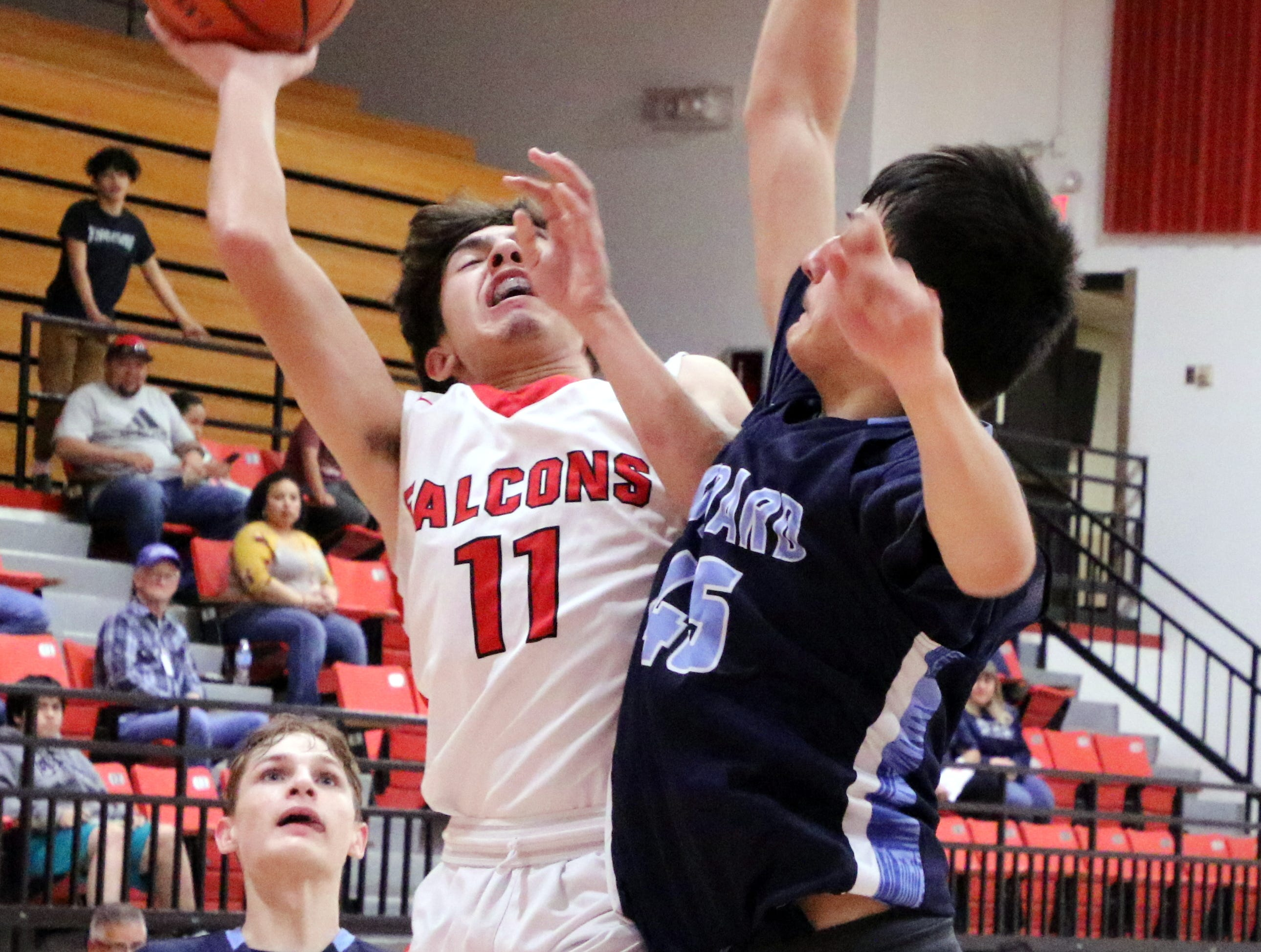 Michael Murillo goes for a layup during Saturday's game against Goddard.