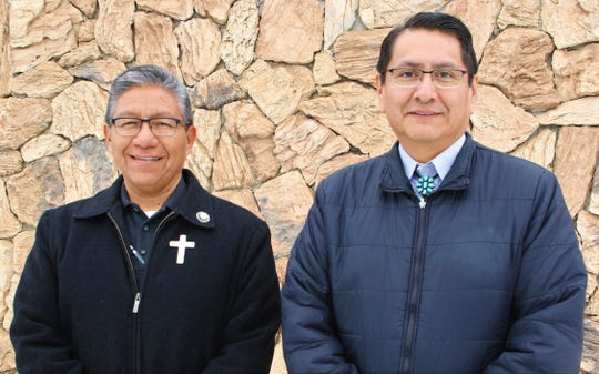 Myron Lizer, left, and Jonathan Nez will be sworn in as the tribe's vice president and president on Tuesday.