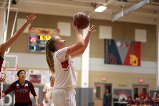 Palm Desert's Kristina Serven puts up a shot in the second half Friday against La Quinta.