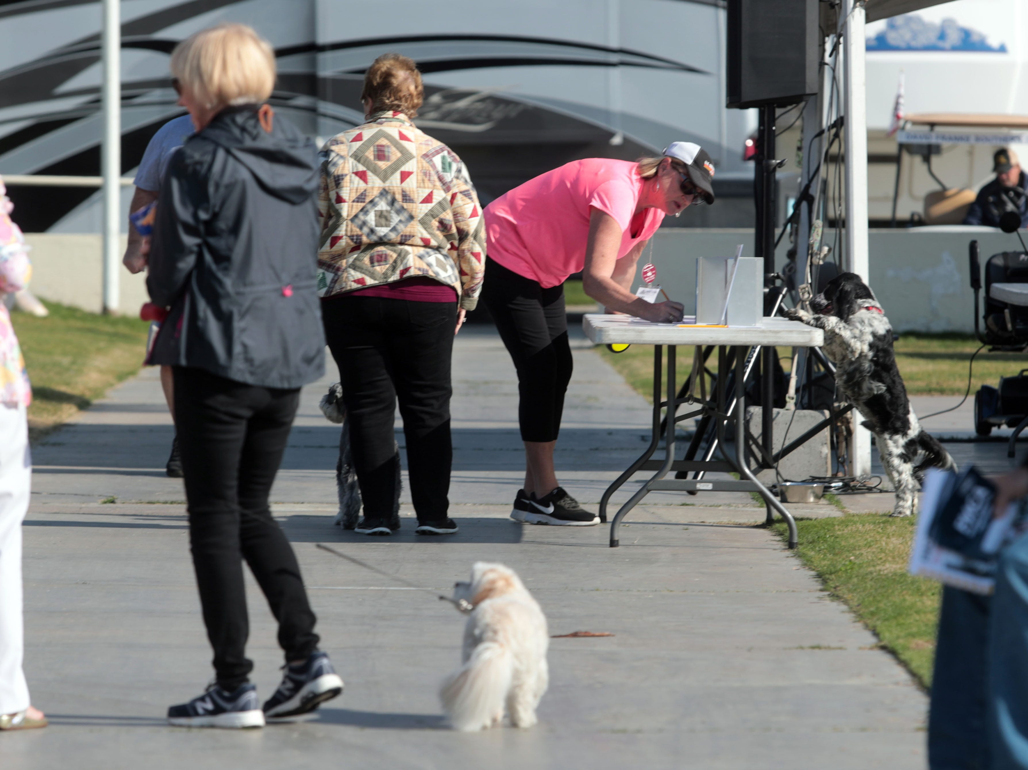 A pet show on Saturday, January 12, 2019 in Indio, during the FMCA annual motorhome convention.