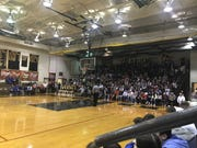 A packed house at Elco greeted the boys-girls basketball doubleheader between the Raiders and Northern Lebanon on Friday night.