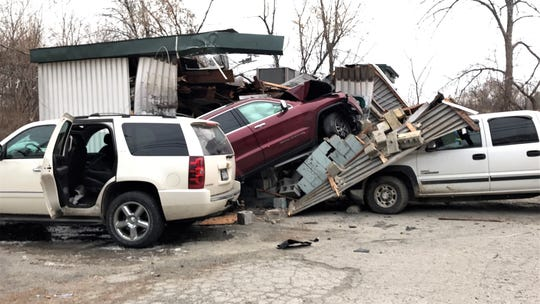 A vehicle crashed into Kirky's Deli in Milton on Jan. 12, 2019.