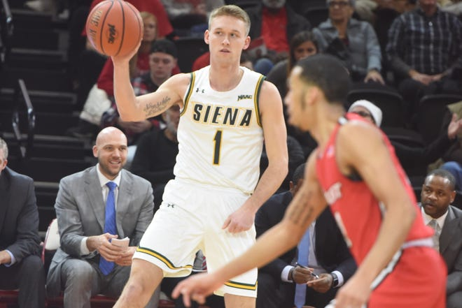 Braedon Bayer, a LaGrangeville native and Siena College basketball player, played in front of his home crowd at Marist on Friday