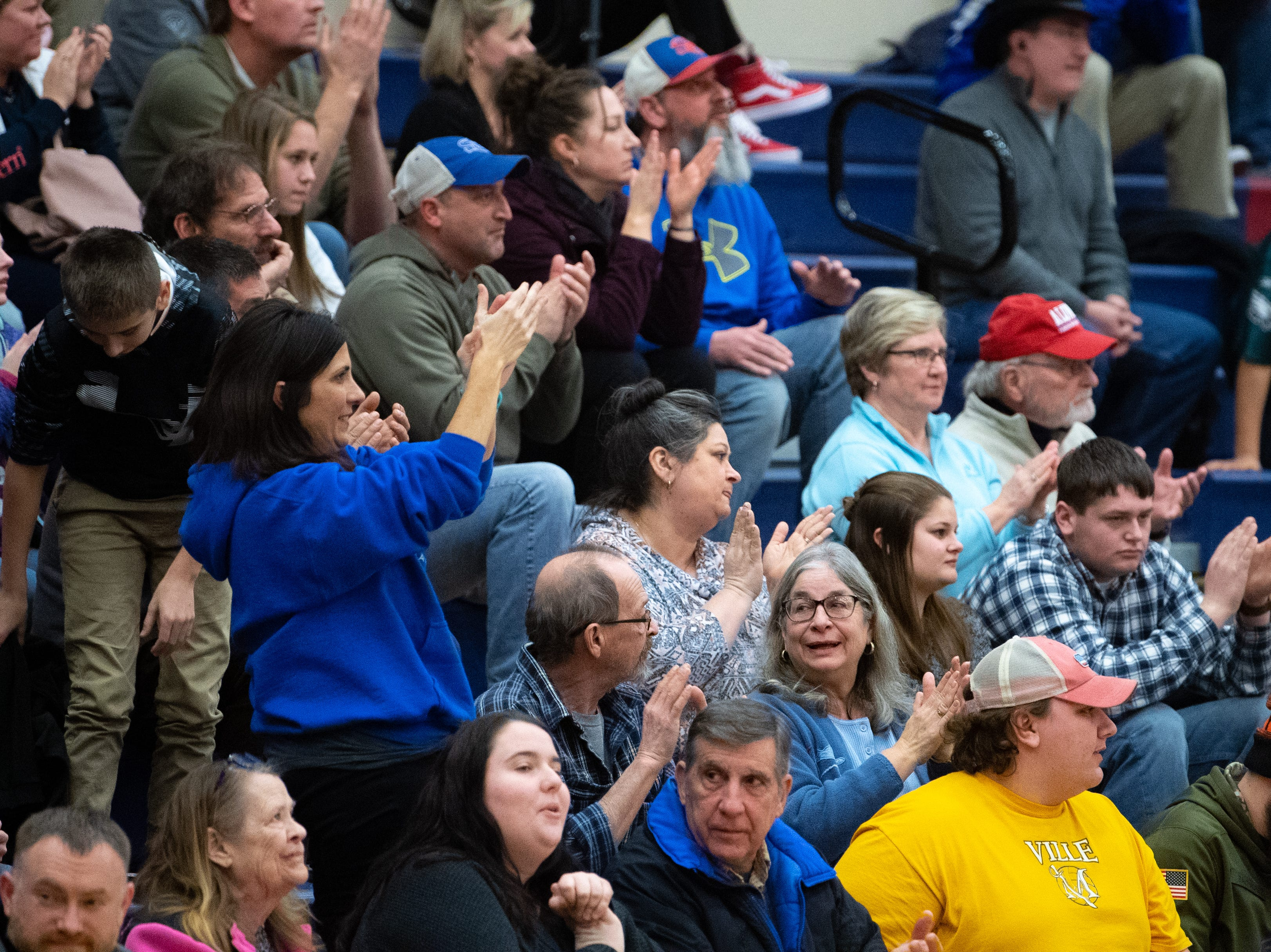 The stands were full during the girls' basketball game between Spring Grove and South Western at Spring Grove Area High School, Friday, January 11, 2019. The Rockets defeated the Mustangs 51 to 38.