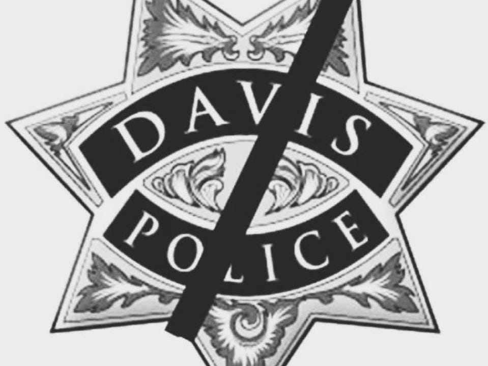 The Davis Police Department added this badge to its Facebook page in honor of slain officer Natalie Corona.