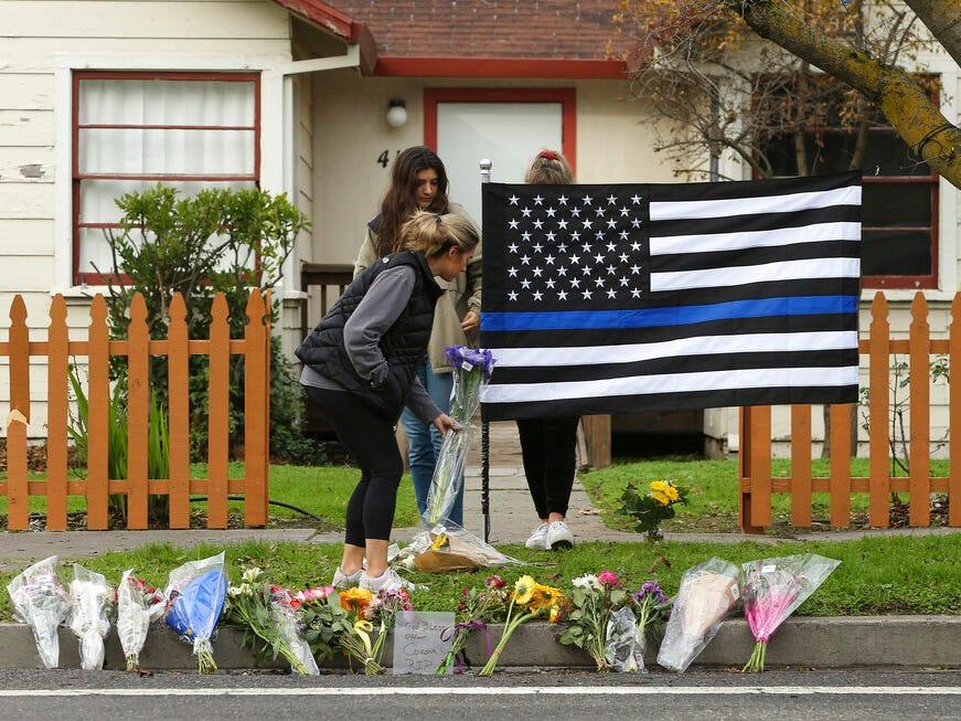 Mourning for slain Davis police officer Natalie Corona