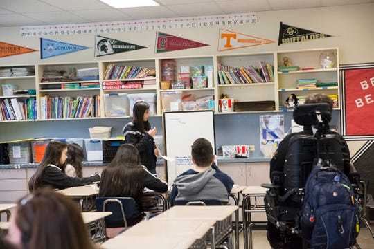 Students in class at Adam Stephens Middle School on Thursday, Jan. 10, 2019.