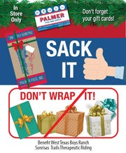 "Palmer Feed & Supply's annual ""Sack It, Don't Wrap It"" campaign raised $3,000 for two local charities."