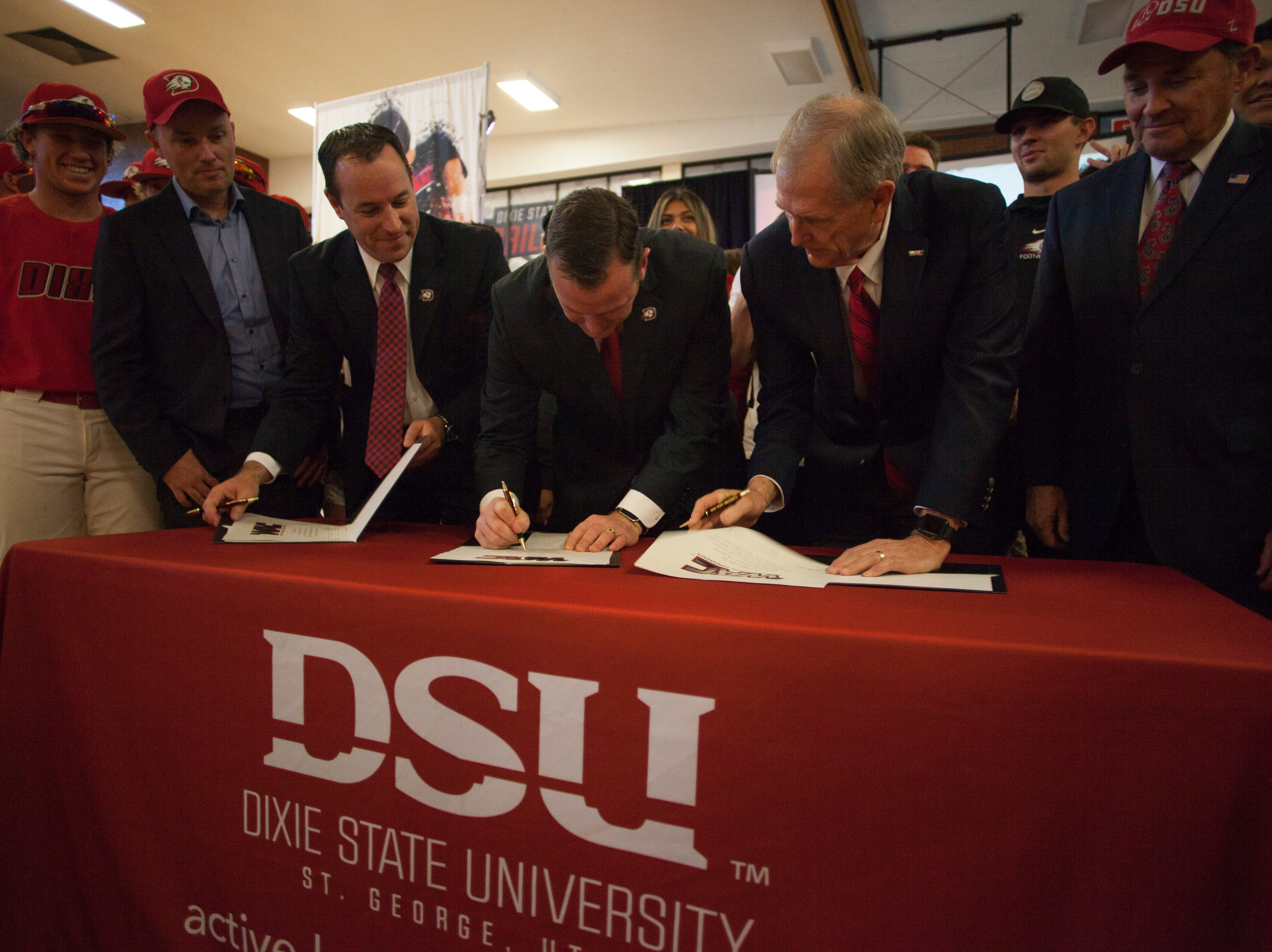 Dixie State University joins the Western Athletic Conference and becomes a division 1 school Friday, Jan. 11, 2019