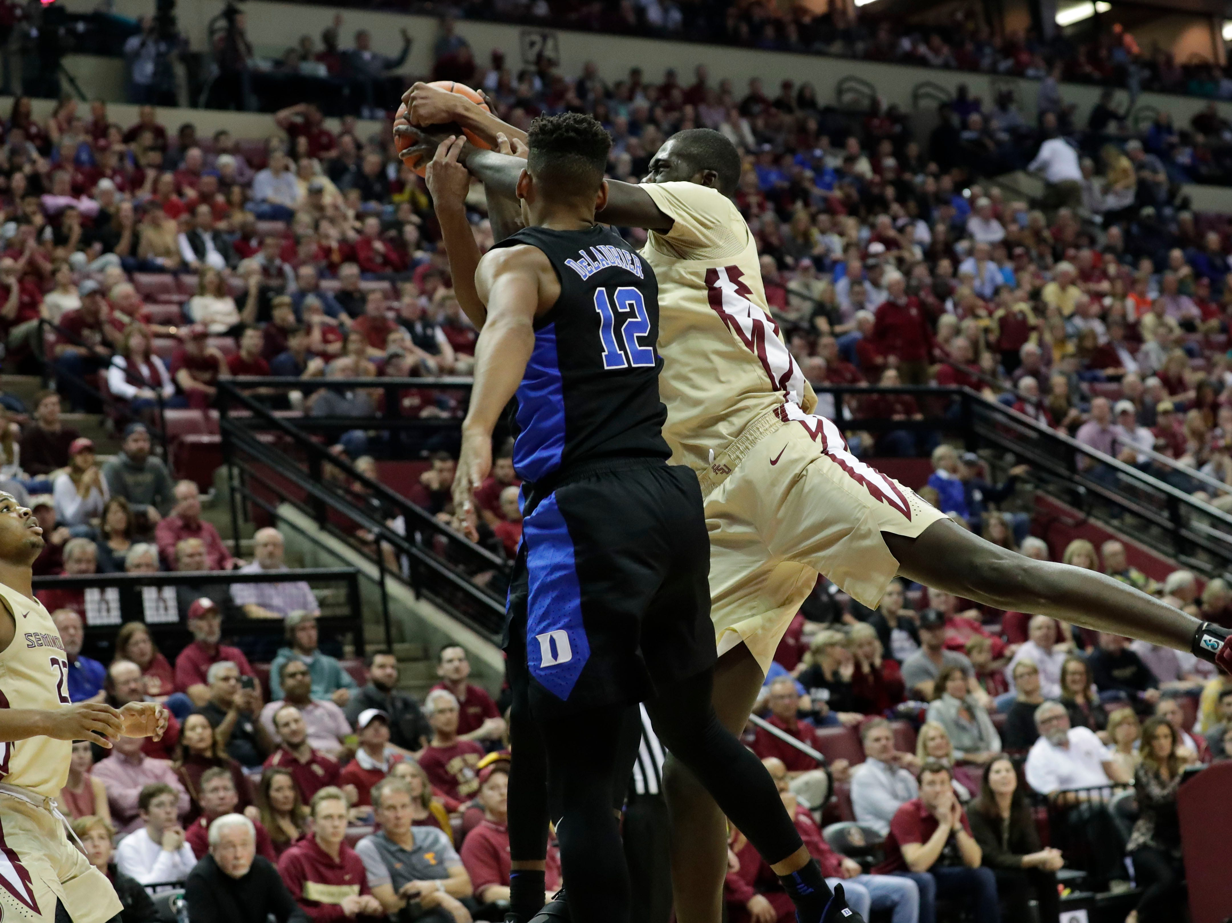 Ranked 13 in the ACC, the Florida State Seminoles host the number 1 team, the Duke Blue Devils, at the Tucker Civic Center, Saturday, Jan. 12, 2019.