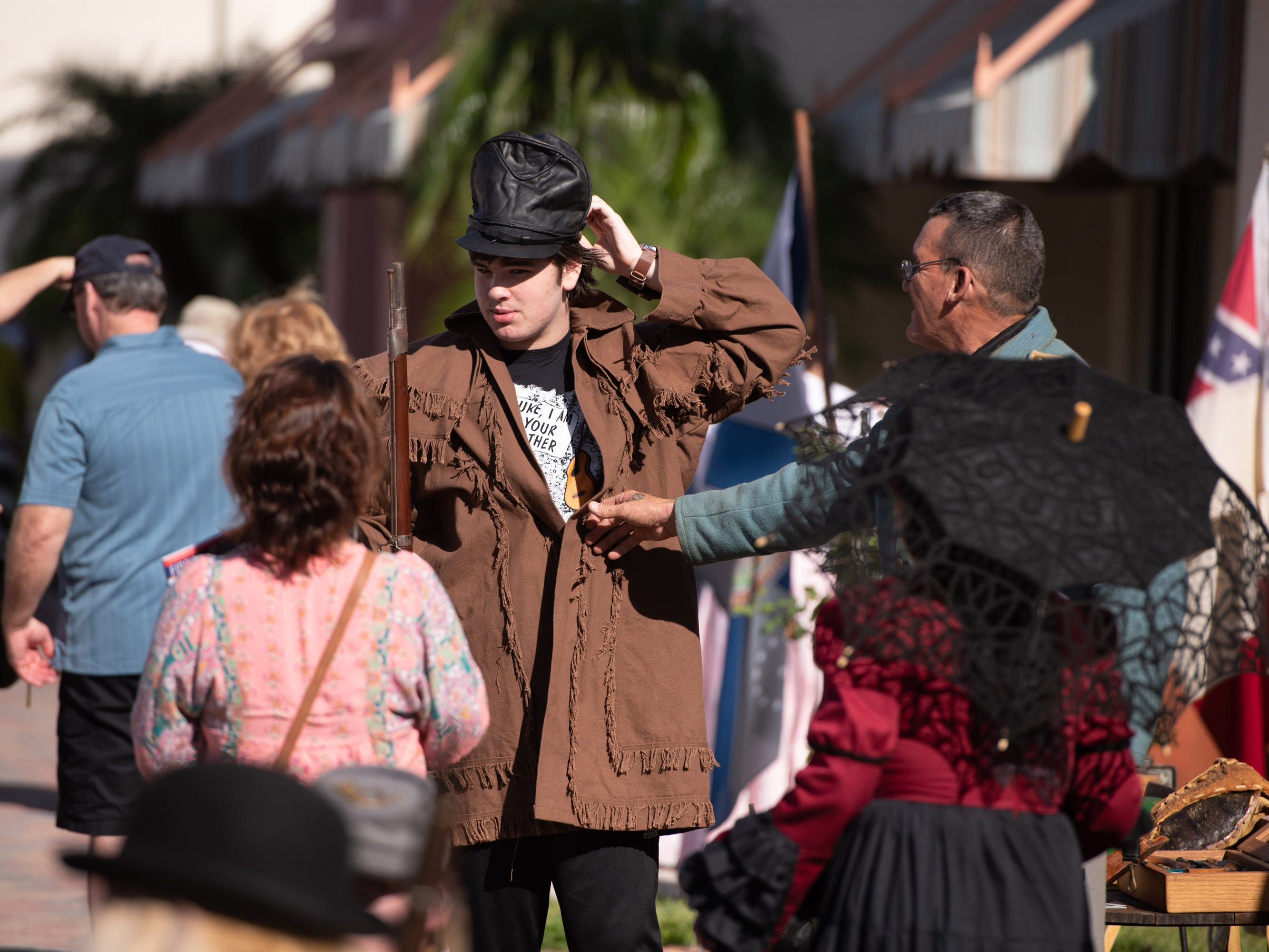 The third annual Treasure Coast History Festival featured historical re-enactors depicting life on the Treasure Coast in the 1800s to the early 1900s, on Saturday, Jan. 12, 2019, in downtown Fort Pierce.