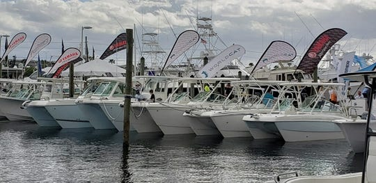 New models of World Cat and Parker are at the in-water display along the A Dock at this year's Stuart Boat Show.