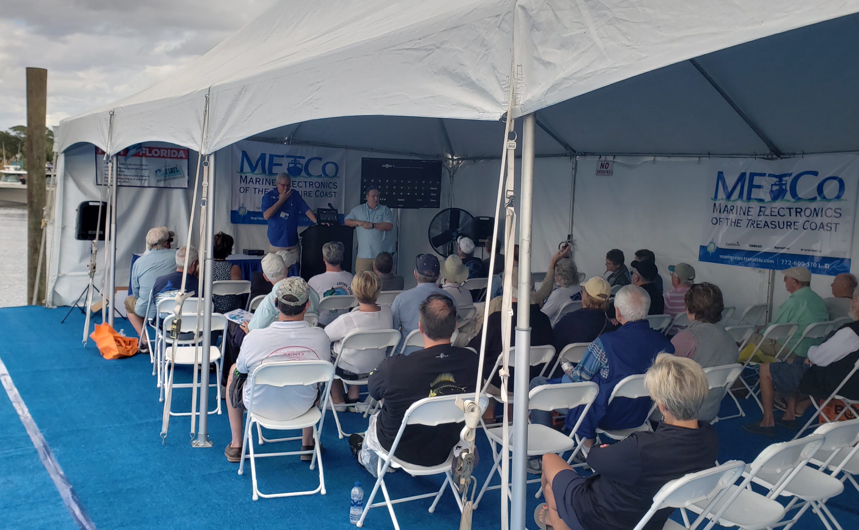 The METCo seminar tent at the Stuart Boat Show will be at a