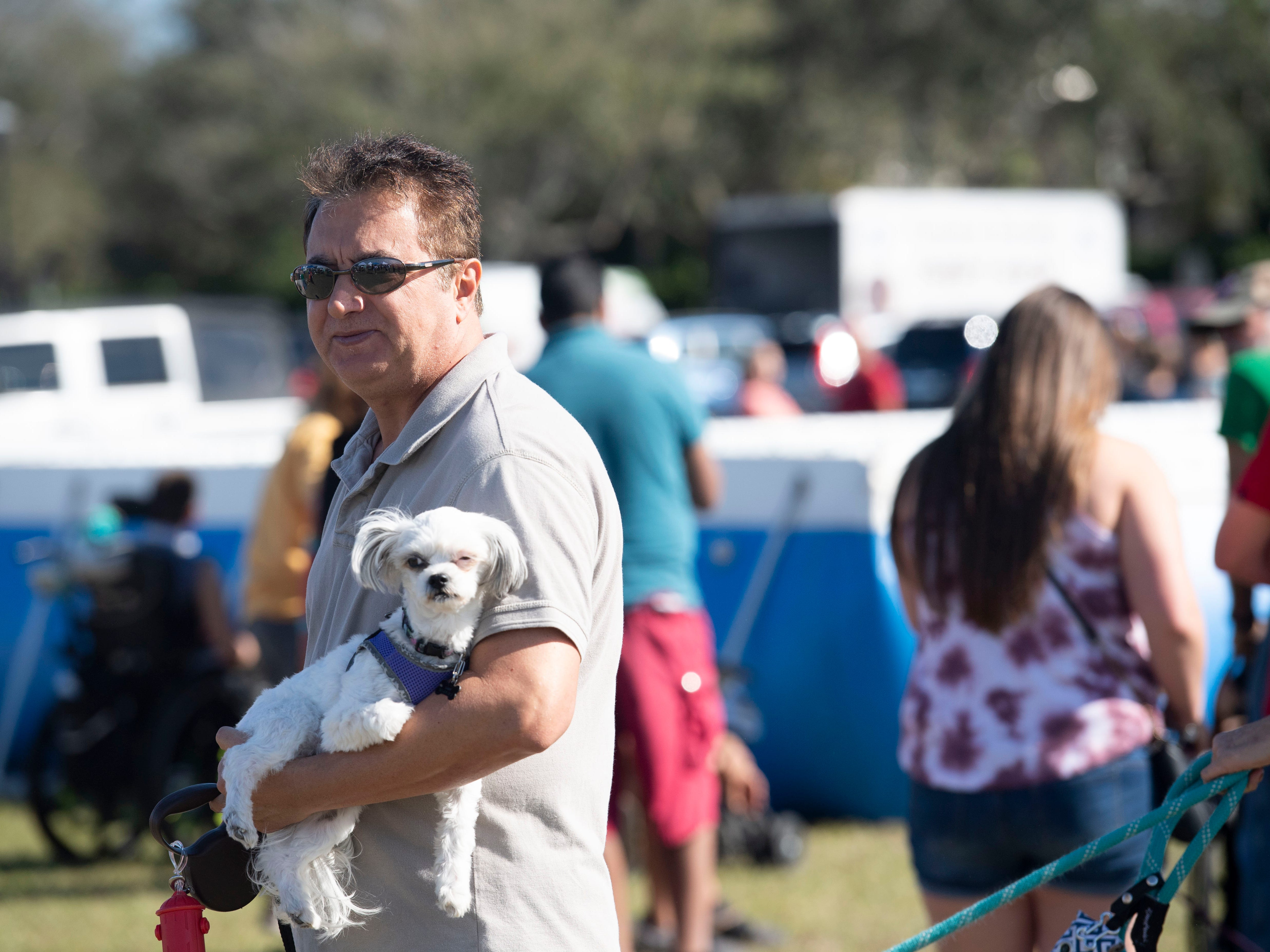 "Hundreds of people and their dogs came to the Humane Society of Vero Beach and Indian River County's sixth annual Bark in the Park that featured the Disc-Connected K9's frisbee acts, the Ultimate Dock Diving Dogs, a kids zone, lure curse, the Humane Society's Mobile Adoption Unit and vendors on Saturday, Jan. 12, 2019, at Riverside Park in Vero Beach. ""The purpose of Bark in the Park is to bring the community's pet lovers together and to celebrate the human, animal bond,"" said Kate Meghji, executive director of the Humane Society. ""Watching dogs be dogs is pretty much the most entertaining and heartwarming thing ever,"" she said."