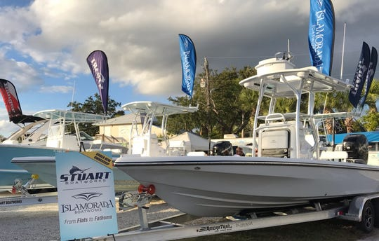 Stuart Boatworks and Islamorada Boatworks based in Stuart are ready for customers Saturday at the Stuart Boat Show. Sunday is the show's final day. Hours are 10 am. to 5 p.m.
