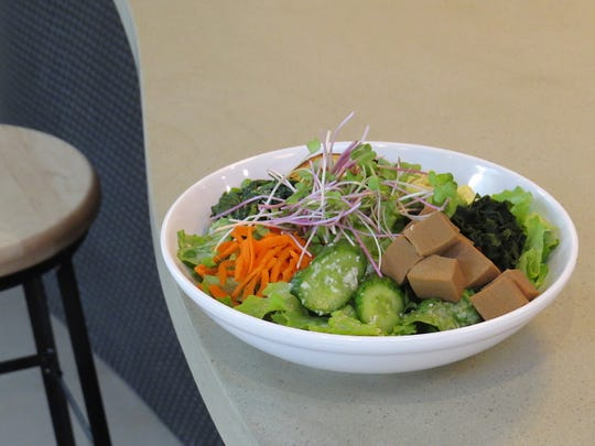 New to the Hip Vegan menu is the Wagamama bowl, made with sea greens, pickled cucumber, sweet potato and koya tofu.