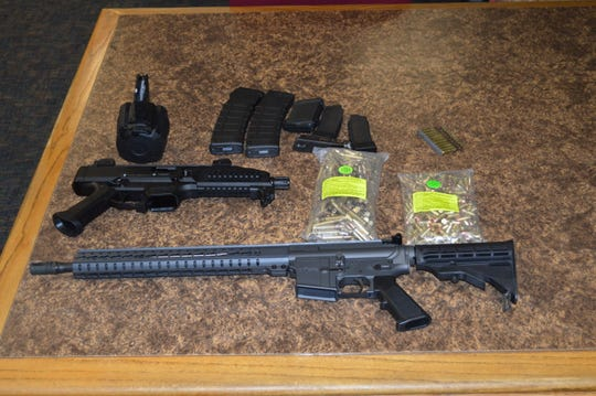 These firearms were seized by deputies Thursday in the 700 block of London Circle in Thousand Oaks.