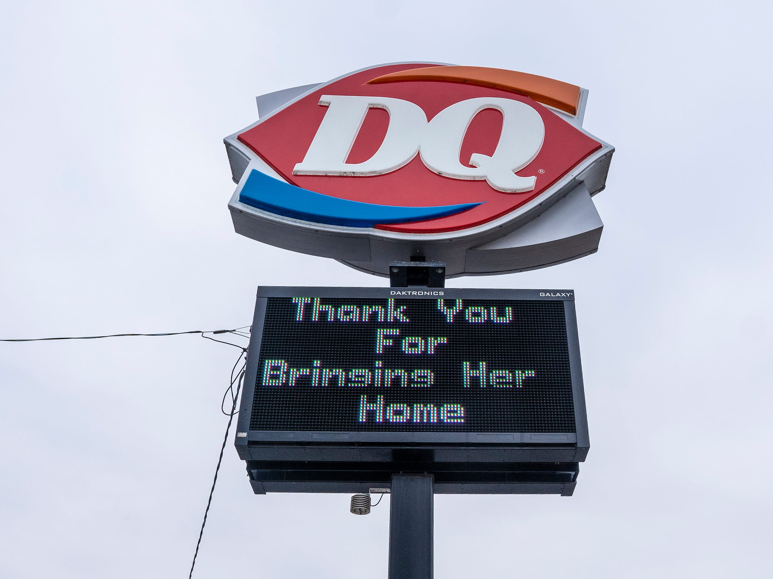 Dairy Queen's sign about the Jayme Closs case.