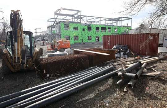 Work continues at the former site of Frank's Nursery on Dobbs Ferry Road in Greeburgh, Jan. 12, 2019, where a new  101-unit assisted living facility is being constructed. The town is considering a local law that would require future assisted living for seniors to make 10 percent of the units available at below-market rates set by the Westchester County affordable housing guidelines.