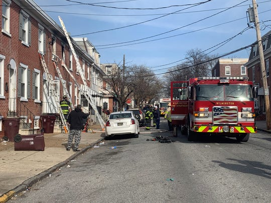 Wilmington firefighters extinguished a fire on S. Van Buren Street on Saturday.