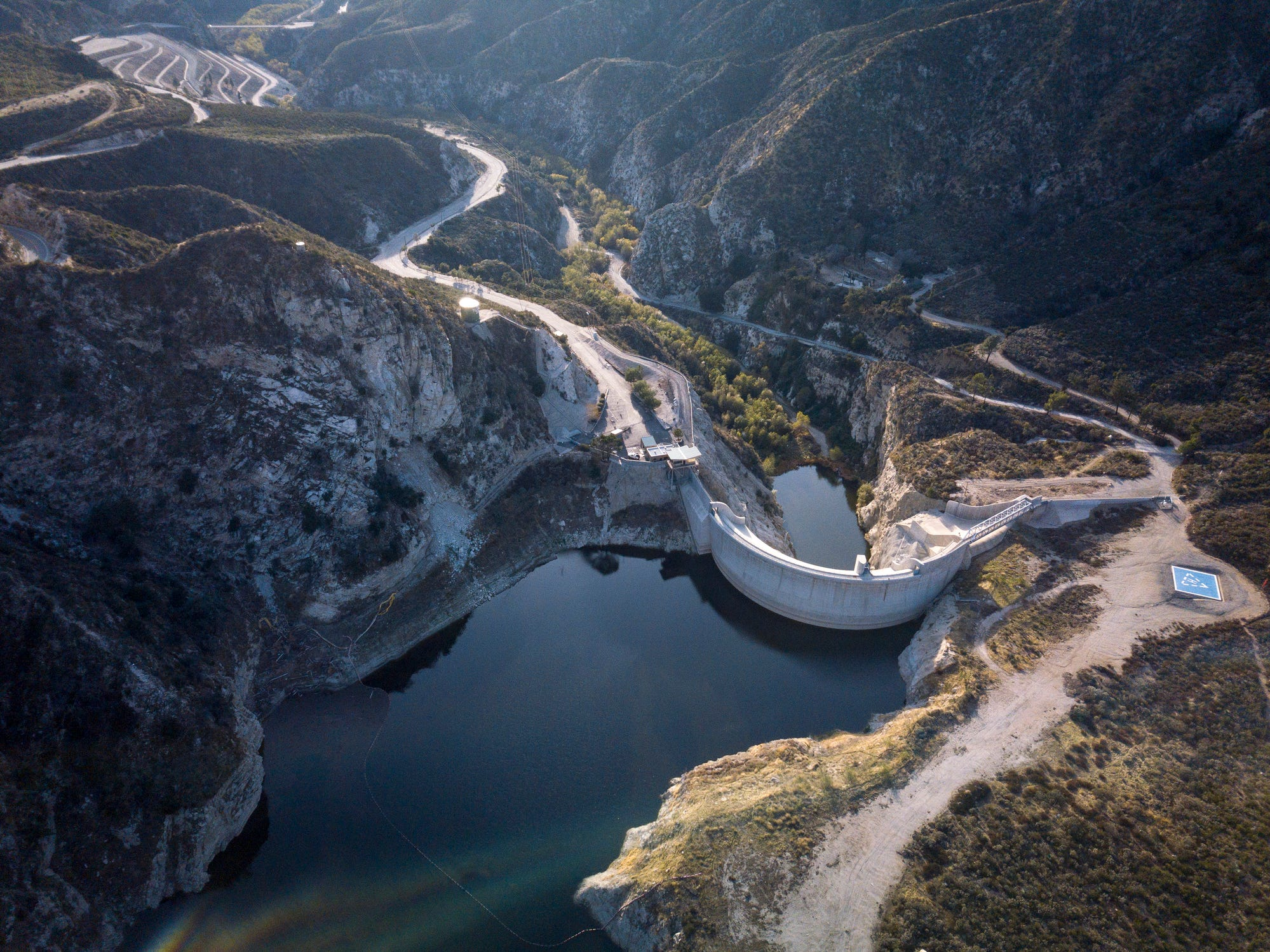 Big Tujunga Dam in California.