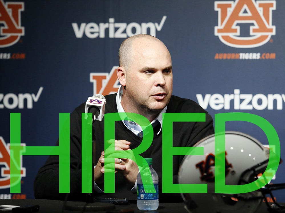 Chip Lindsey was hired by Troy. He spent the past two seasons serving as Auburn's offensive coordinator.