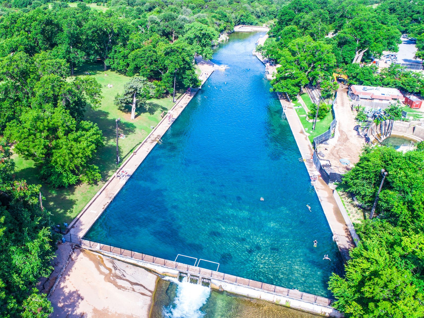 Barton Springs in Texas.