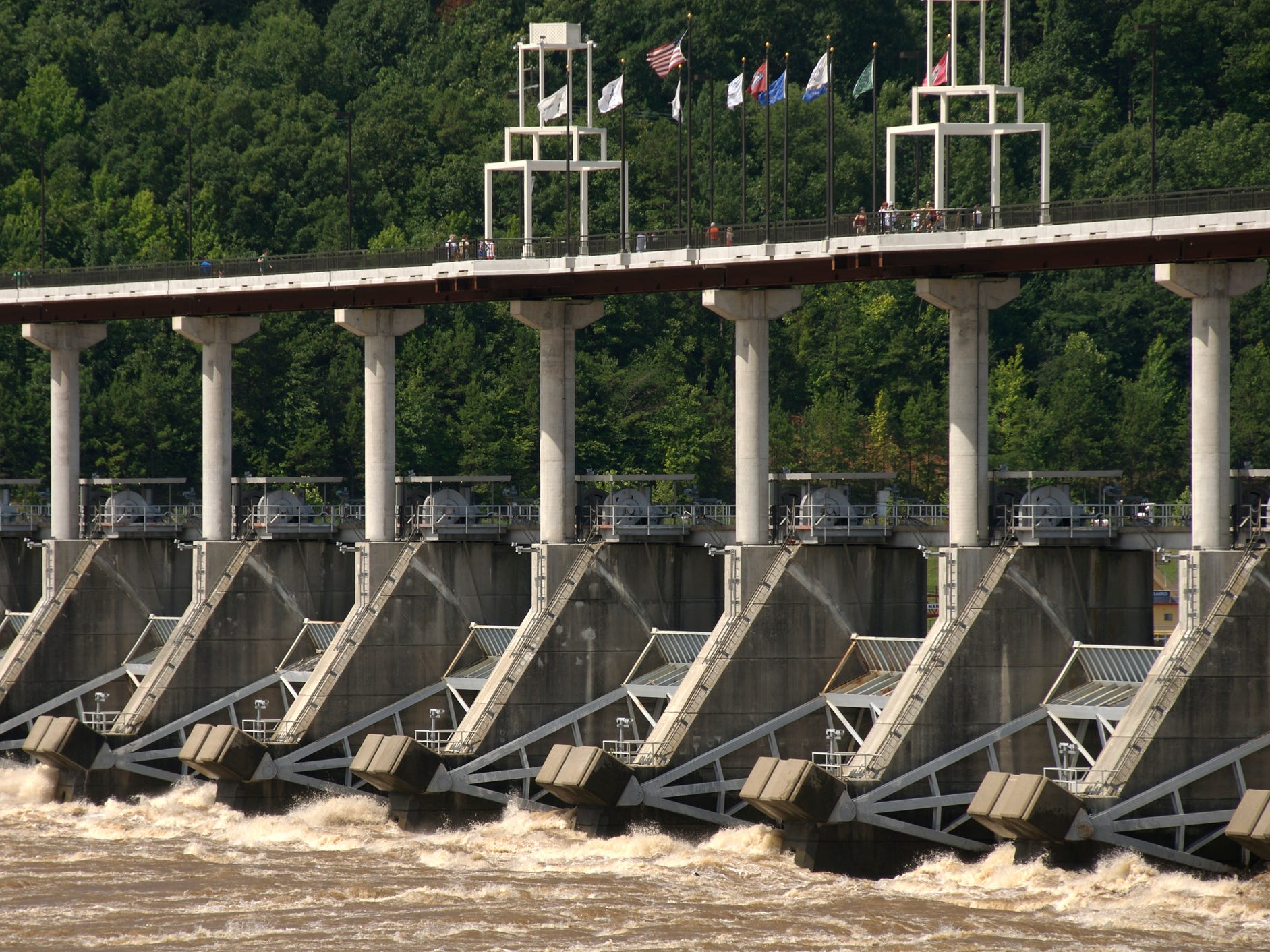 The Big Dam Bridge in Arkansas.