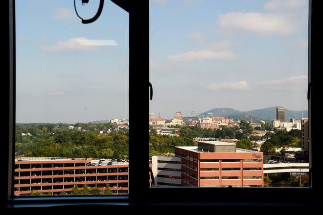 The view from a room in Orthopedics at Mission Hospital.