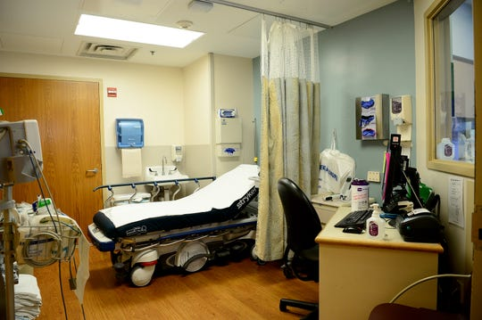 The triage room in the emergency department of Mission Hospital.