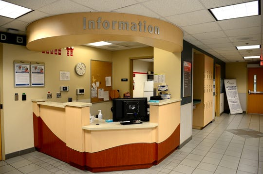 This file photo shows the information desk in the emergency department of Mission Hospital.
