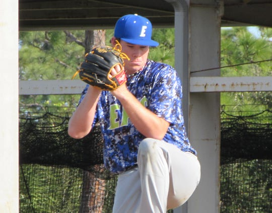 Eau Gallie's Carter Stewart, a former top pick of the Atlanta Braves, is playing at Eastern Florida State College.