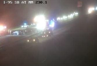 Accident on I-95 Saturday evening in northbound lanes in Scottsmoor.