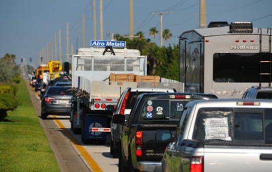 Rush-hour northbound U.S. 1 motorists grind to a halt after a January multi-vehicle crash just north of Viera Boulevard.