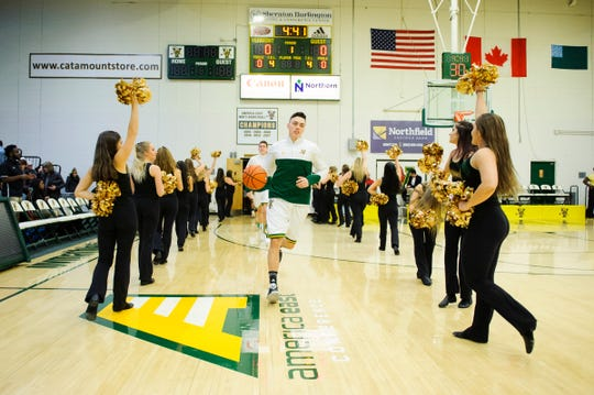 Vermont takes the bout during the men's basketball game between the Hartford Hawks and the Vermont Catamounts at Patrick Gym on Saturday night January 12, 2019 in Burlington.