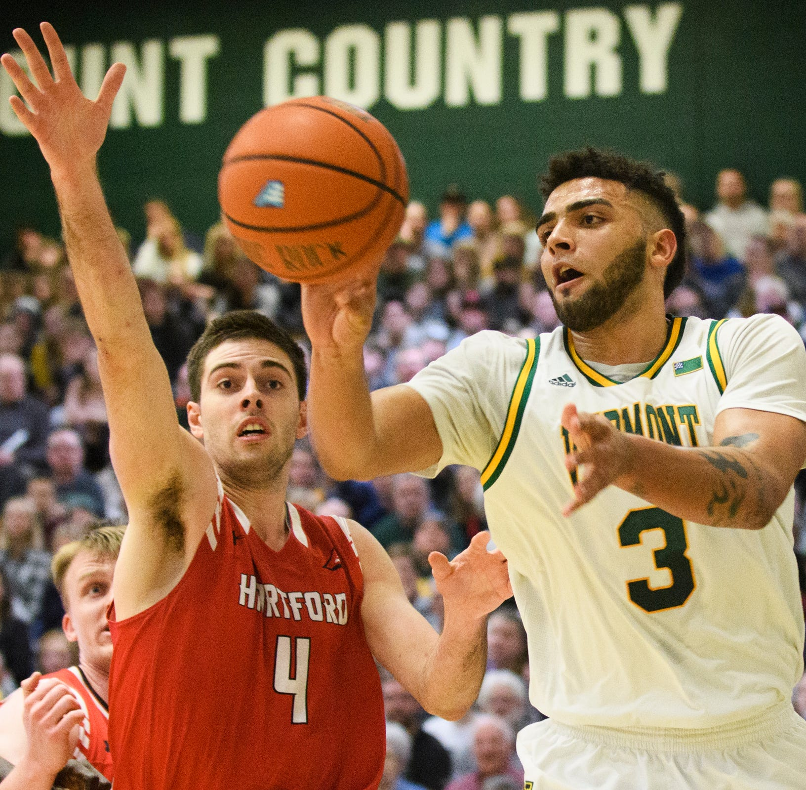 UVM men's basketball outlasts Hartford to clinch home quarterfinal game