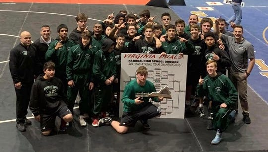 The South Plainfield wrestling team won the National High School Division of the Virginia Duals