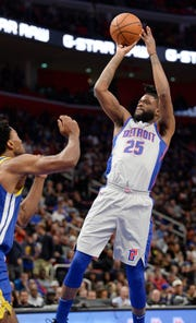 The Pistons' Reggie Bullock is hitting 40 percent of his 3-point attempts, after shooting 45 percent from 3-point range last season.