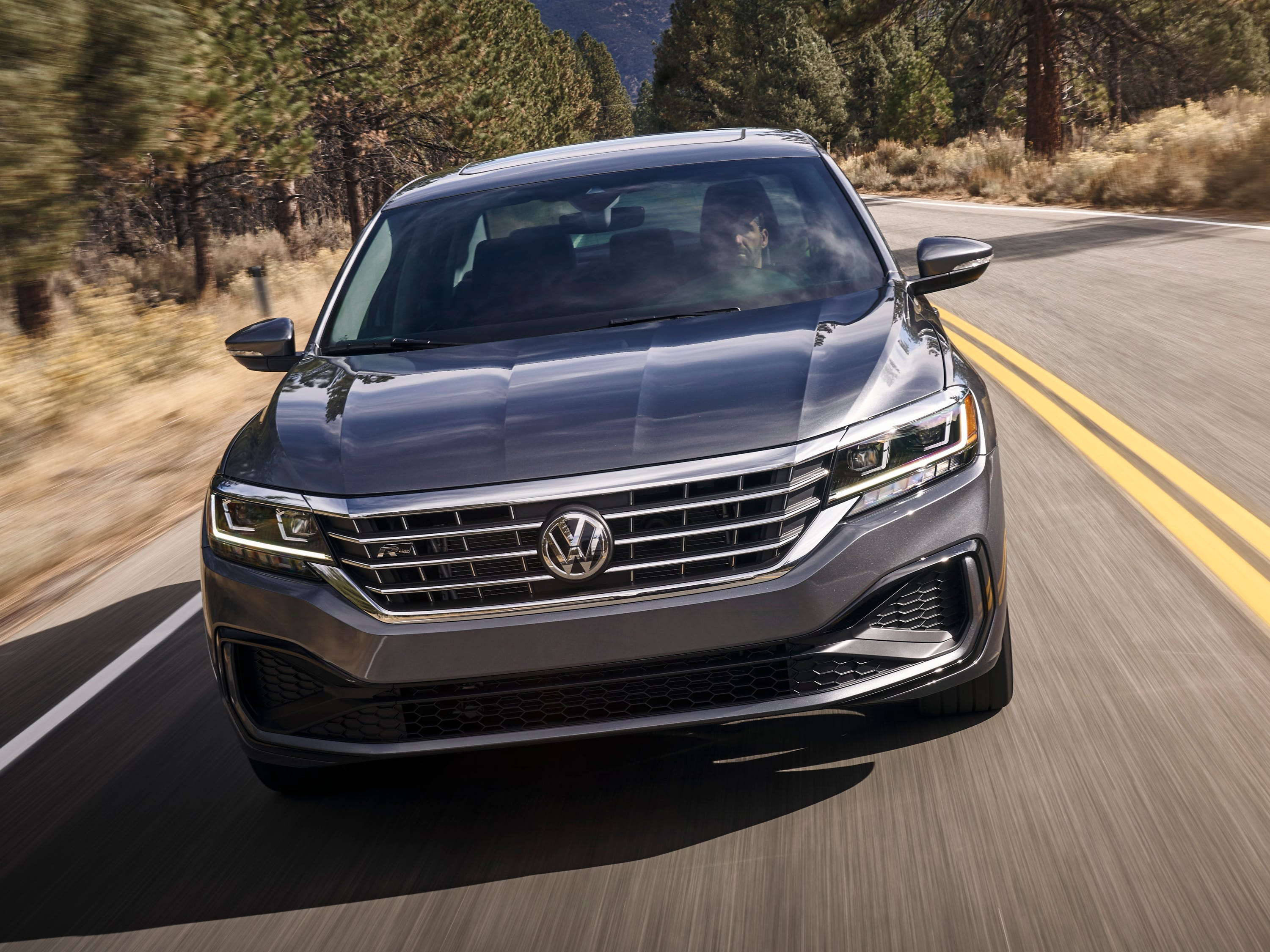 While the 2020 Passat retains the underpinnings of the previous model, it has been completely restyled, with  a dynamic coupe-like roofline and dominant grille.
